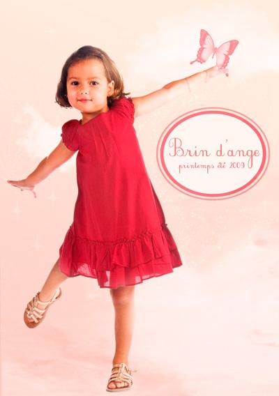 Graphisme catalogue vêtements pour enfants
